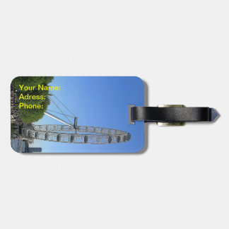 Luggage Tag with London Eye Ferris Wheel