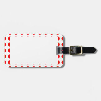 Luggage Tag with Red Polka-Dots