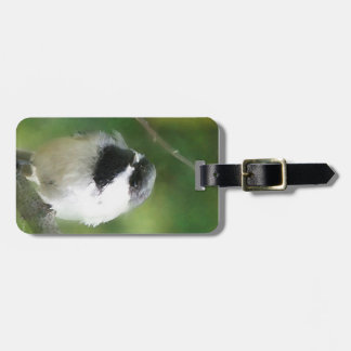 Luggage Tag with Resting Chickadee Painting Tags For Bags