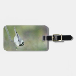 Luggage Tag with Resting Chickadee Painting Tag For Bags