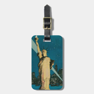 Luggage Tag with Vintage Statue of Liberty Print