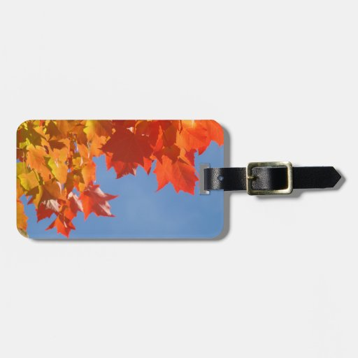 LUGGAGE Tags Designer Custom Autumn Leaves
