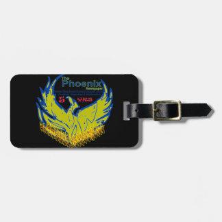luggage toga-customized-phoenix newspaper launch luggage tag