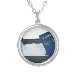 LuggageOnSandwithPassports011815.png Round Pendant Necklace
