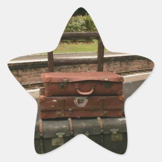 Lugguage at Crowcombe Heathfield station, Somerset Star Sticker