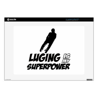 """Luging Superpower Designs Decal For 15"""" Laptop"""