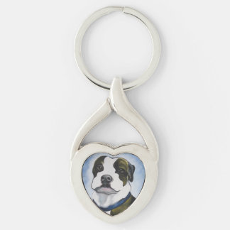 Lugnut Silver-Colored Heart-Shaped Metal Keychain
