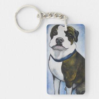Lugnut the Pittbull dog Double-Sided Rectangular Acrylic Keychain