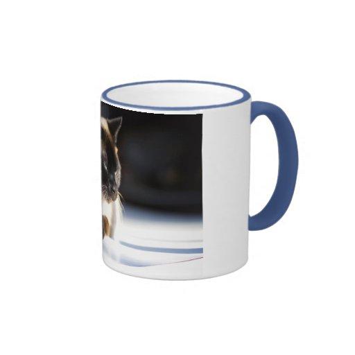 Lui at the Window Ringer Coffee Mug