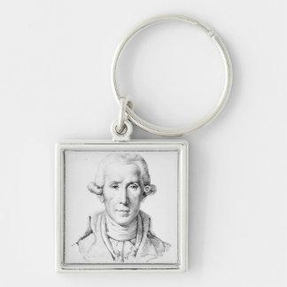 Luigi Boccherini Silver-Colored Square Keychain