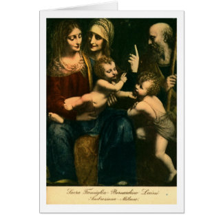 Luini, Sacra Famiglia Card