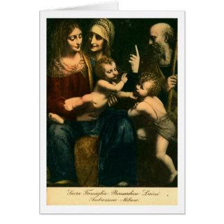 Luini, sacros Famiglia Tarjeta De Felicitación
