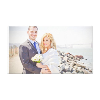 Luis & Carla's Wedding Stretched Photo Canvas Gallery Wrapped Canvas