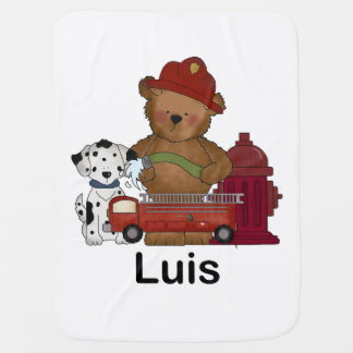 Luis Little Fire Bear Personalized Gifts Baby Blanket