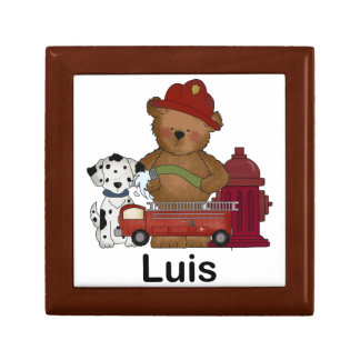 Luis' Little Fire Bear Personalized Gifts Jewelry Box