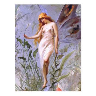 Luis Ricardo Falero: Lily Fairy Postcard