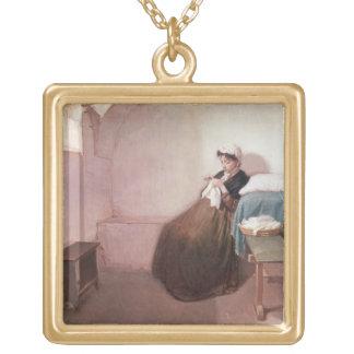 Luisa Sanfelice in Prison Square Pendant Necklace