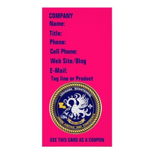 Luisiana 1812-2012 bicentenario ve por favor indir tarjeta personal con foto