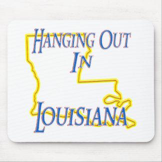 Luisiana - colgando hacia fuera alfombrillas de ratón