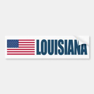 Luisiana con la bandera de los E.E.U.U. Pegatina Para Auto