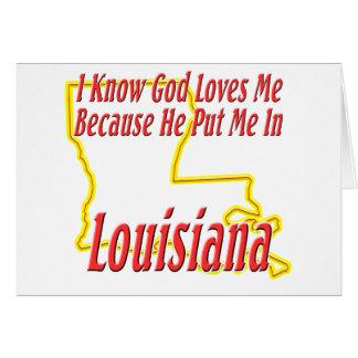 Luisiana - dios me ama tarjetón