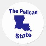 Luisiana: El estado del pelícano Etiquetas Redondas