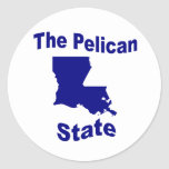 Luisiana: El estado del pelícano Pegatina Redonda