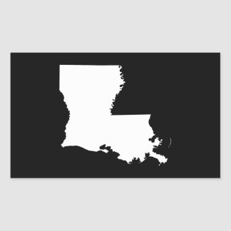 Luisiana en blanco y negro pegatina rectangular