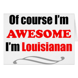 Luisiana es impresionante tarjeta de felicitación