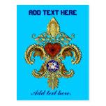 Luisiana Flor de lis Postcard Tarjetas Postales