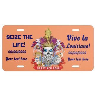 Luisiana leída por favor sobre diseño placa de matrícula