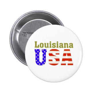 ¡Luisiana los E.E.U.U.! Pin Redondo De 2 Pulgadas