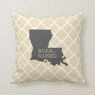 Luisiana nacida y aumentada cojín decorativo