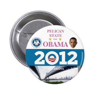 LUISIANA para el botón político del pinback de Oba Pin Redondo De 2 Pulgadas