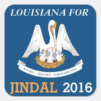Luisiana para Jindal 2016 Pegatina Cuadrada