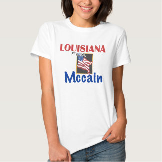 Luisiana para la camiseta de Mccain Playeras