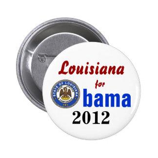Luisiana para Obama 2012 Pin Redondo 5 Cm