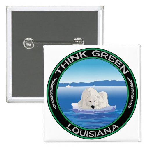 Luisiana polar verde pin cuadrada 5 cm