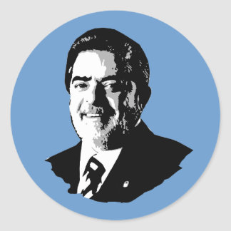 Luiz Inácio Lula da Silva Pegatina Redonda
