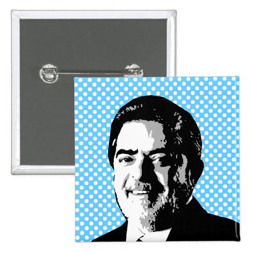 Luiz Inácio Lula da Silva Pin Cuadrada 5 Cm