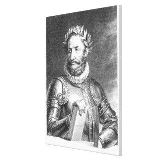Luiz Vaz de Camoes grabado por B. Rogelio Impresión En Lienzo Estirada