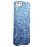 Lujo elegante del brillo de los azules marinos funda de iPhone 6 plus barely there
