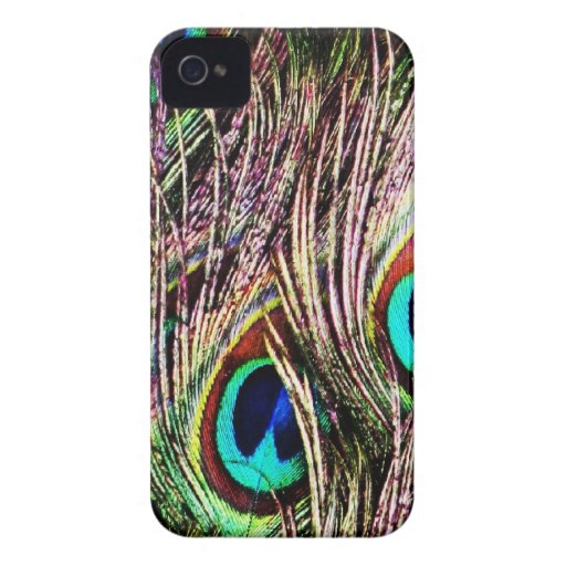 Lujo real animal S del pájaro verde hermoso del pa iPhone 4 Case-Mate Fundas