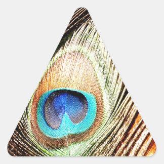 Lujo real animal S del pájaro verde hermoso del pa Calcomanía Triangulo Personalizadas