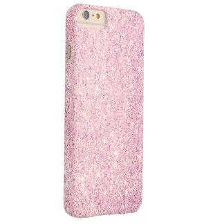 Lujo rosado elegante del brillo funda barely there iPhone 6 plus
