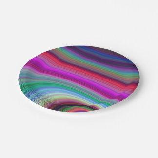 Lujuria colorida platos de papel