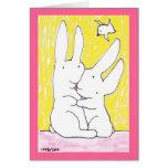 Lujuria del conejito - tarjeta de felicitación