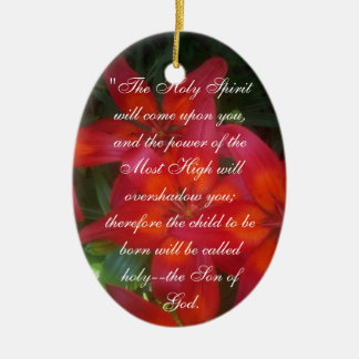 Luk 1:37  For nothing will be impossible with God. Christmas Tree Ornament