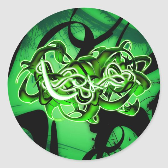 Luka Classic Round Sticker