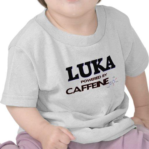 Luka powered by caffeine tee shirt